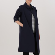 女式 棉混不易沾水立领大衣