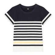 质地干爽装饰条纹 短袖T恤