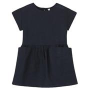 法国亚麻水洗短袖连衣裙