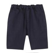 法国亚麻水洗半长裤