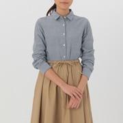 女式 棉双层纱织条纹衬衫