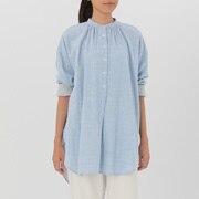 女式 棉双层纱织束腰长上衣