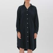 女式 棉双层纱织衬衫连衣裙