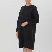 女式 棉双层纱织圆领连衣裙