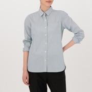 女式 棉水洗条纹衬衫