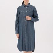 女式 棉牛仔衬衫连衣裙