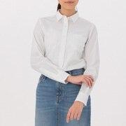 女式 棉水洗平纹衬衫