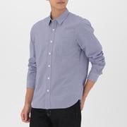 男式 棉平纹 双重格子衬衫