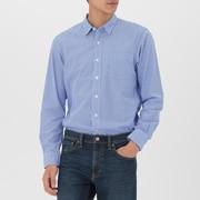 男式 棉平纹 条纹衬衫