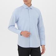 男式 棉平纹 定型半宽领衬衫