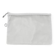 聚酯纤维 双拉链包・L 浅灰色 约19×27cm