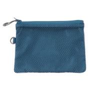 聚酯纤维 双拉链包・M 蓝色 约13.5×19cm