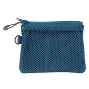 聚酯纤维 双拉链包・S 蓝色 约10×13.5cm
