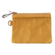 聚酯纤维 双拉链包・S 暗黄色 约10×13.5cm