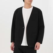 男式 棉混无翻领夹克