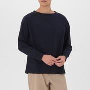 男式 棉平纹 带罗纹套头衫