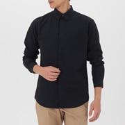 男式 棉平纹 暗扣衬衫