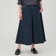 女式 日本牛仔面料 弹力宽版裤