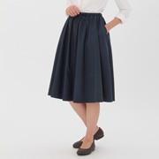 女式 棉混高密度轻便抽褶A字裙