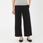 女式 棉横竖弹力宽版丝光斜纹裤