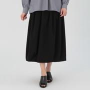 女式 棉横竖弹力轻便丝光斜纹灯笼裙