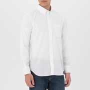 男式 牛津棉 定型纽扣领衬衫