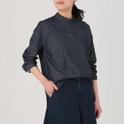 女式 日本面料靛蓝染色套头罩衫