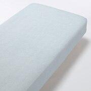 棉蜂窝纹 床垫罩 K 浅蓝色