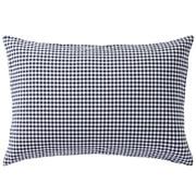 水洗棉 枕套 43×63cm用 深蓝色格纹
