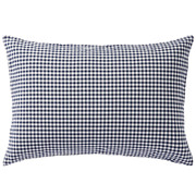水洗棉 枕套 50×70cm用 深蓝色格纹