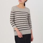 女式 法国亚麻圆领毛衣