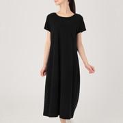 粘胶纤维棉天竺 带罩杯法国袖连衣裙