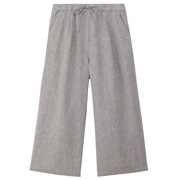 女式 法国亚麻 轻便宽版裤