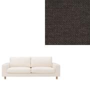 棉雪尼尔沙发套 / 2.5人座用 / 宽扶手沙发本体用 / 深灰色