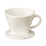 米瓷 咖啡过滤器 约直径11.5×高9.5cm(不含手把) / 米色