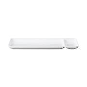 白磁 秋刀鱼碟 宽约30cm×进深5cm / 白色
