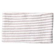 拉毛束发头巾 粗 约22×幅12cm / 粉色条纹