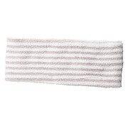 拉毛束发头巾 细 约22×宽7.5cm / 粉色条纹