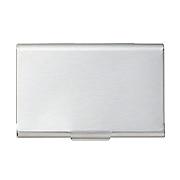 不锈钢名片盒 厚 61×93mm 约收纳25枚 / 银色