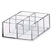 圧克力隔間附盒 透明小/130x175x60