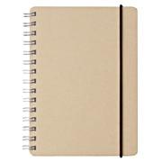 再生纸双环笔记本/点式方格  A6/白/70页/付橡皮筋