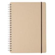 再生纸双环笔记本/点式方格  A5/白/70页/付橡皮筋