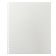 PP可书写封皮相册用 自由衬纸 四段式 5枚入 / 白色