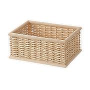 可重叠长方形藤编篮子 小 26×18.5×H12CM