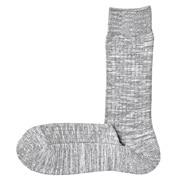 竹节脚底起绒袜子