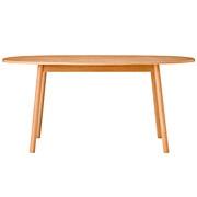橡木材餐桌 / 椭圆形 / 160×90×72cm