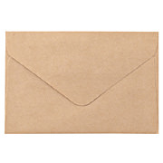 再生纸手工信封贺卡 70×105mm 20个 / 黄土颜色