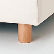 沙发用脚 / 自然色 / 4支入 / 直径6×高10cm
