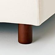 沙发用脚 / 棕色 / 4支入 / 直径6×高10cm