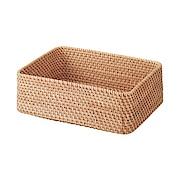 可重叠长方形藤编篮子 约26×36×12cm